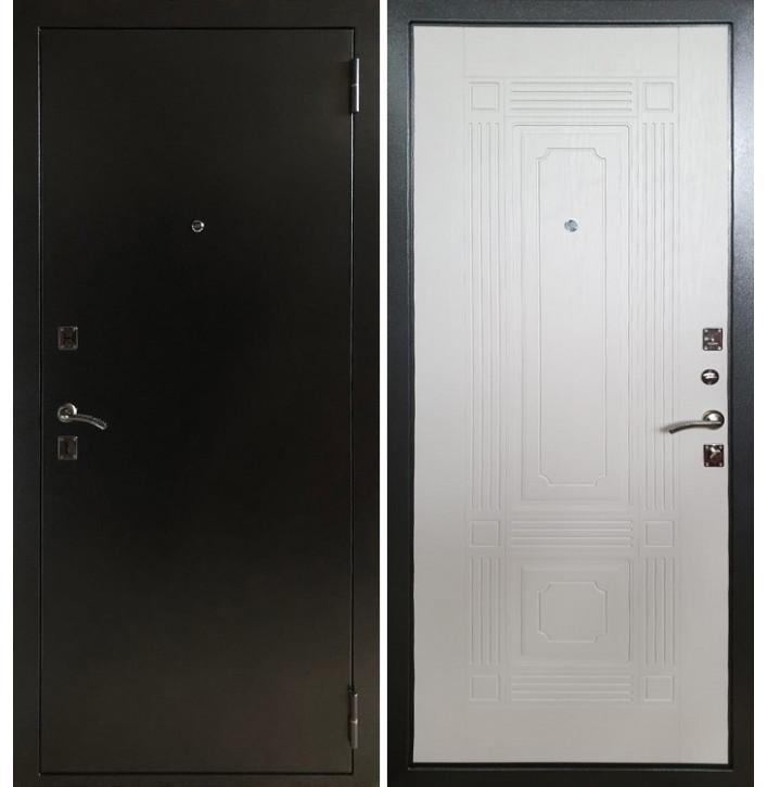 Стальная дверь Армада 1 ФЛ-2 (Антик серебро / Белый ясень)