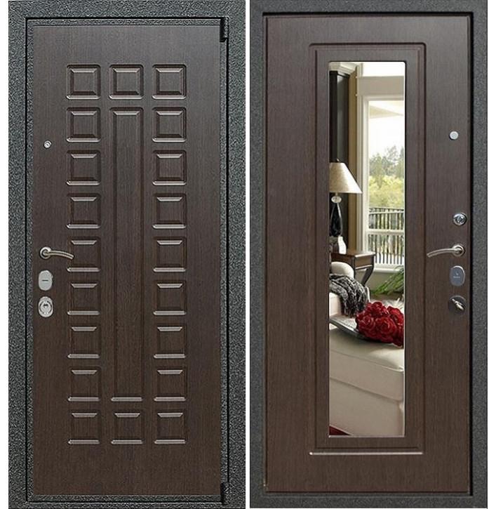 Стальная дверь Армада 4А Mottura с зеркалом (Венге)