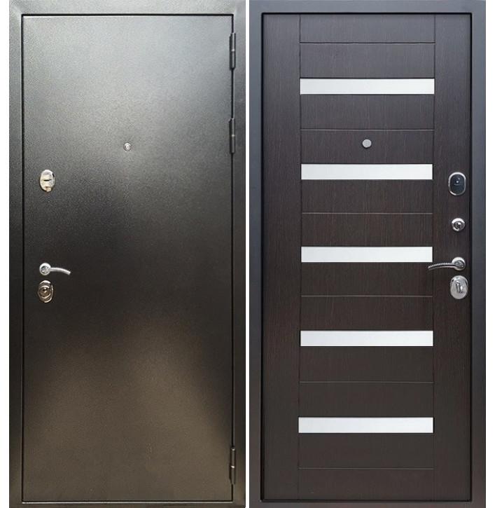 Стальная дверь Армада 5А СБ-14 (Антик серебро / Венге)