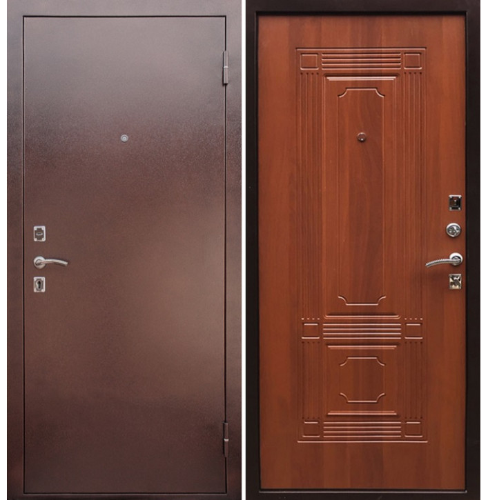 Стальная дверь Армада 1 ФЛ-2 (Антик медь / Орех)