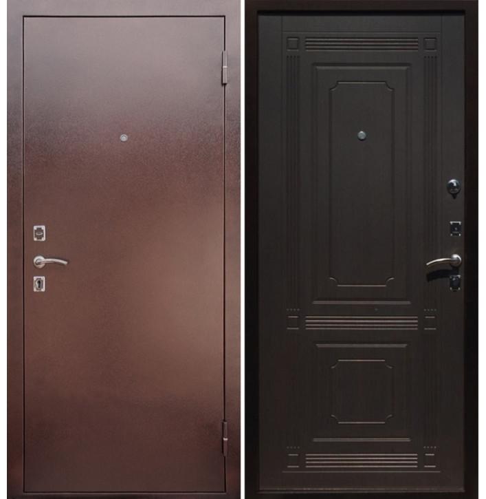 Стальная дверь Армада 1 ФЛ-2 (Антик медь / Венге)