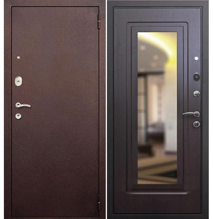 Стальная дверь Армада 1А с зеркалом (Венге)