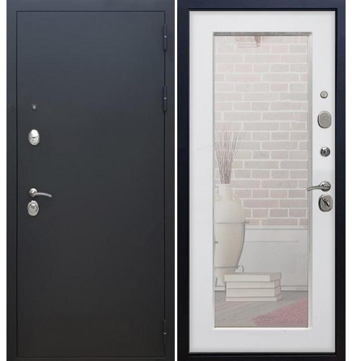 Стальная дверь Армада 1А Пастораль с зеркалом (Белый ясень)