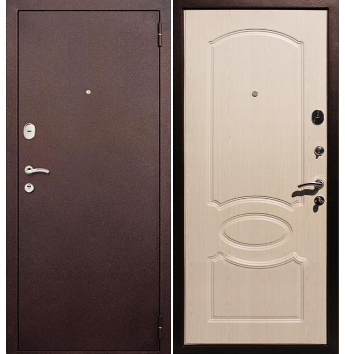Стальная дверь Армада 2 (Антик медь / Беленый дуб)