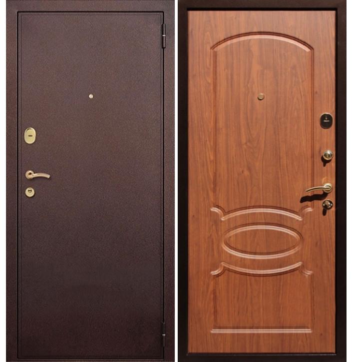 Стальная дверь Армада 2 (Антик медь / Орех)