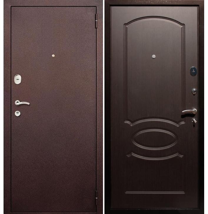 Стальная дверь Армада 2 (Антик медь / Венге)
