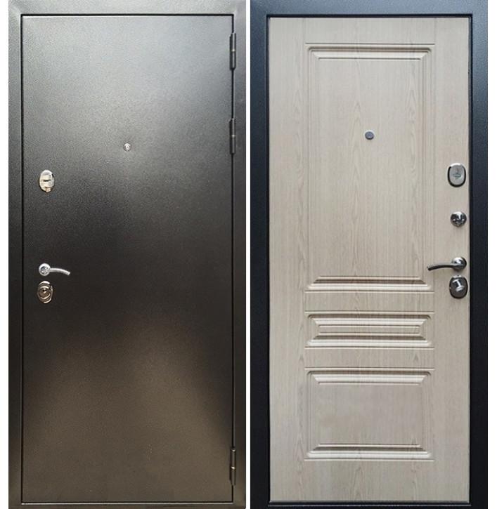 Стальная дверь Армада 5А ФЛ-243 (Антик серебро / Беленый дуб)