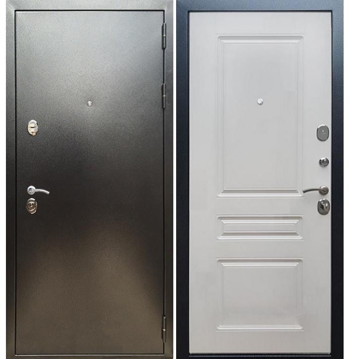 Стальная дверь Армада 5А ФЛ-243 (Антик серебро / Белый ясень)