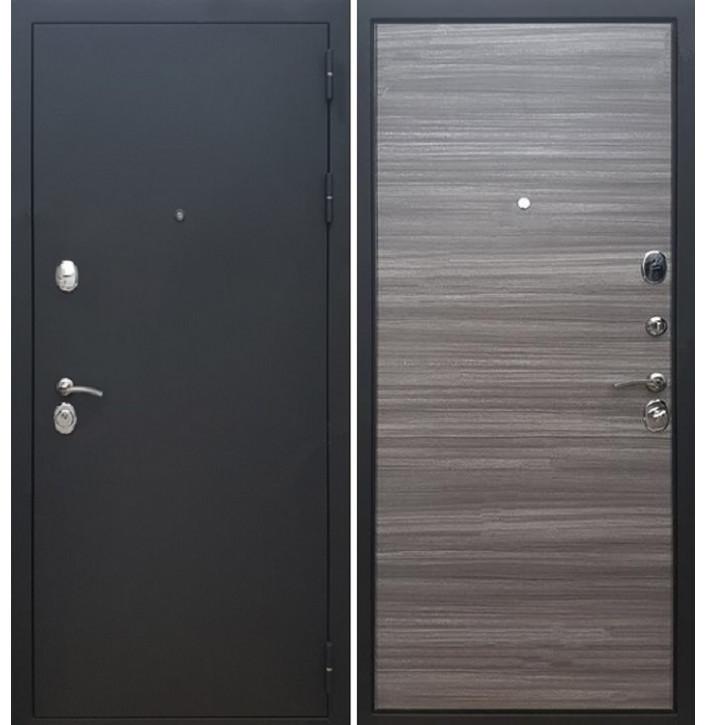 Стальная дверь Армада 5А (Муар черный / Сандал серый)