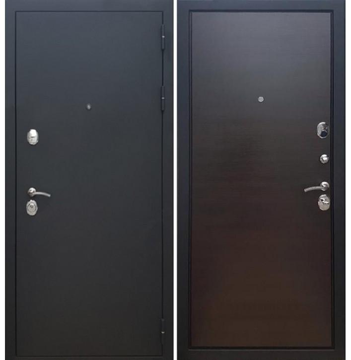 Стальная дверь Армада 5А (Муар черный / Венге поперечный)