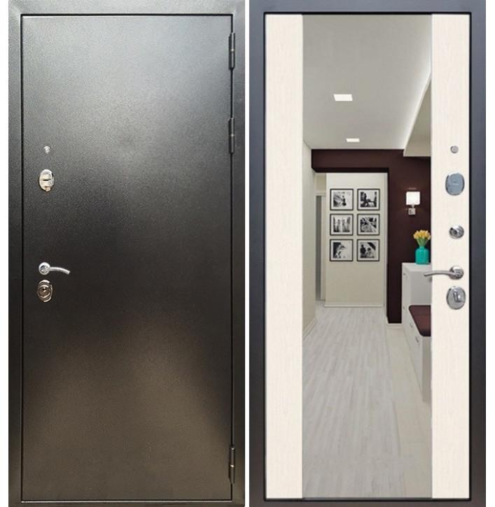 Стальная дверь Армада 5А СБ-16 (Антик серебро / Лиственница беж)