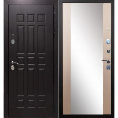 Стальная дверь Армада 8 СБ-16 с зеркалом (Лиственница беж)