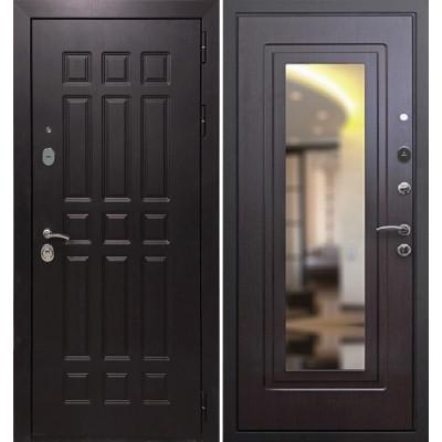 Стальная дверь Армада 8 с зеркалом (Венге)