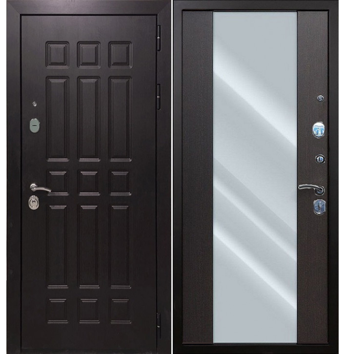 Стальная дверь Армада 8 СБ-16 с зеркалом (Венге)