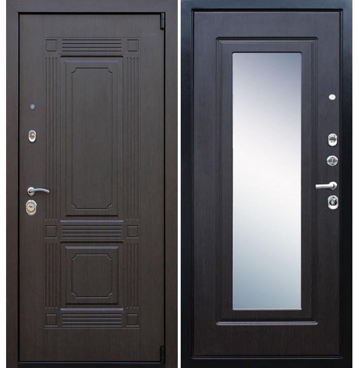 Стальная дверь Армада 9 Викинг с зеркалом (Венге)