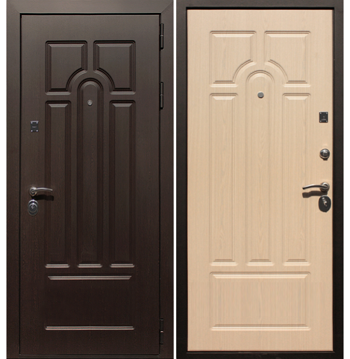 Стальная дверь Армада Эврика (Беленый дуб)