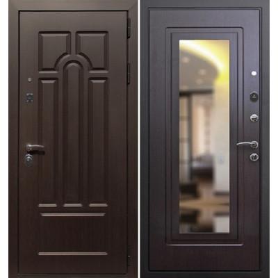 Стальная дверь Армада Эврика с зеркало (Венге)