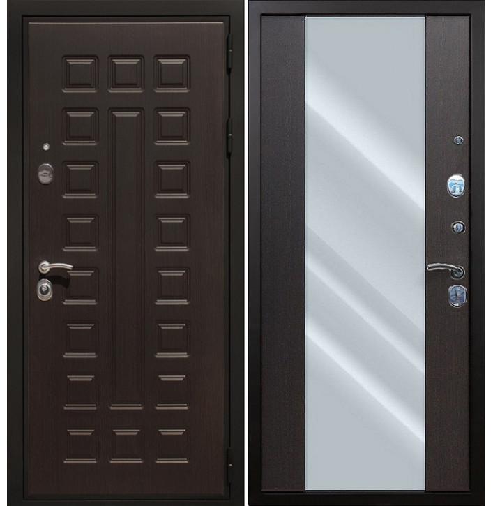 Стальная дверь Армада Премиум-3 СБ-16 с зеркалом (Венге)