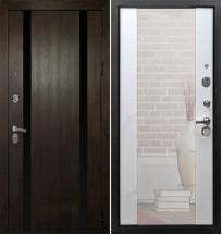 Стальная дверь Армада Премьер Z-3 c зеркалом (Белый ясень)