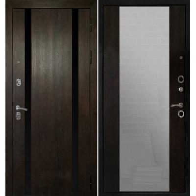 Стальная дверь Армада Премьер Z-3 c зеркалом (Венге)