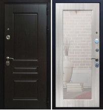 Стальная дверь Армада Премиум H с зеркалом (Сандал белый)