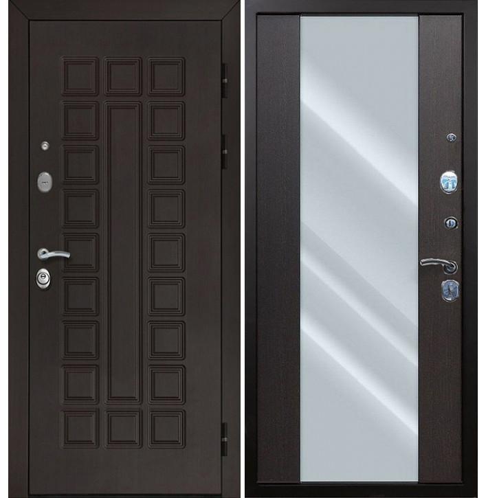 Стальная дверь Армада Сенатор СБ-16 с зеркалом (Венге)