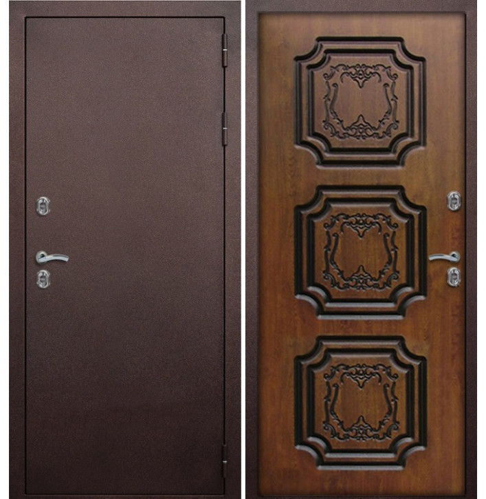 Уличная дверь с терморазрывом Армада Термо (Золотой дуб)