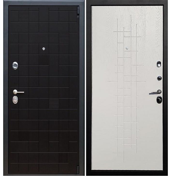 Стальная дверь Армада 12 Тетрис (Белый роял вуд)
